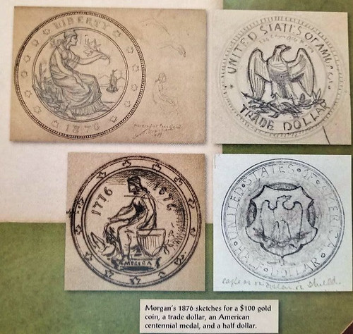 George Morgan's 1876 coin design sketches