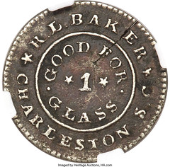 1837 R.L. Baker, Charleston, SC, Hard Times Token Heritage_Auctions_2