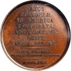Armand Caque Benjamin Franklin Medal reverse