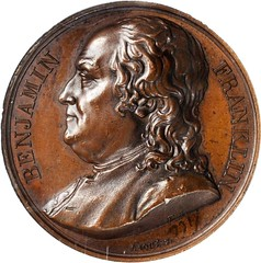 Armand Caque Benjamin Franklin Medal obverse