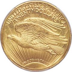 1910 Experimental Finish Saint-Gaudens Double Eagle reverse