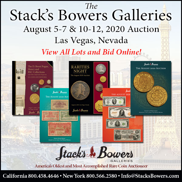 Stacks-Bowers E-Sylum ad 2020-07-19 Las vegas