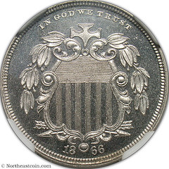 1866 Shield Nickel Pattern J-489 obverse