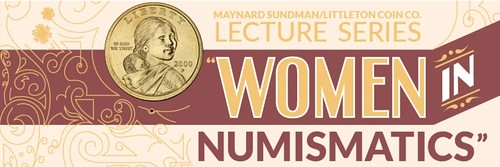 2020 ANA Sundman Lecture Series Women in Numismatics banner logo