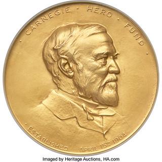 1906 Gold Carnegie Hero Fund Medal obverse