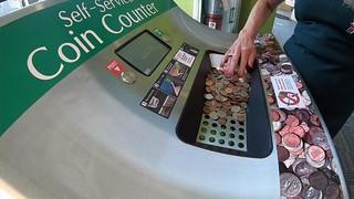 Self-service coin counter