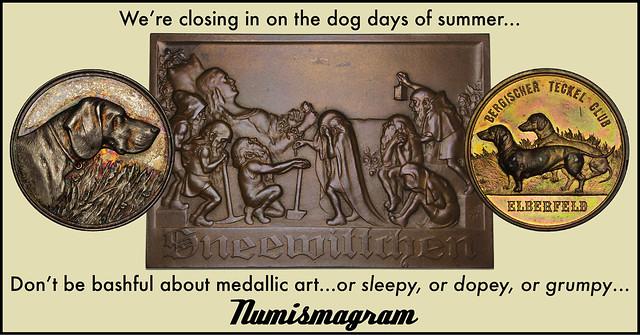 E-Sylum Numismagram ad35 Dog Days