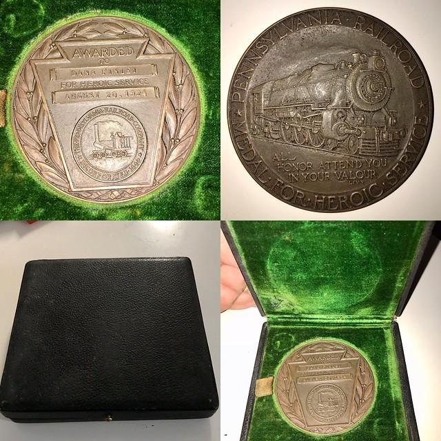 Dana Finley Pennsylvania Railroad Heroic Service Medal obverse