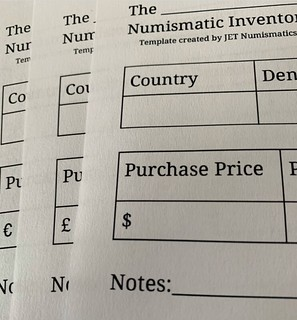 JET numismatic inventory template