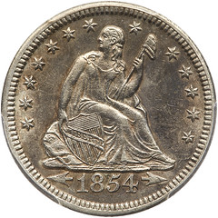 1854-O Huge O quarter dollar obverse