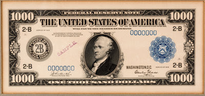 Grinnell $1,000 note