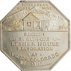 Lesher House Restoration Souvenir Dollar reverse