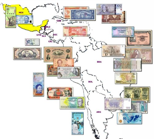 Maps on Latin American Paper Money