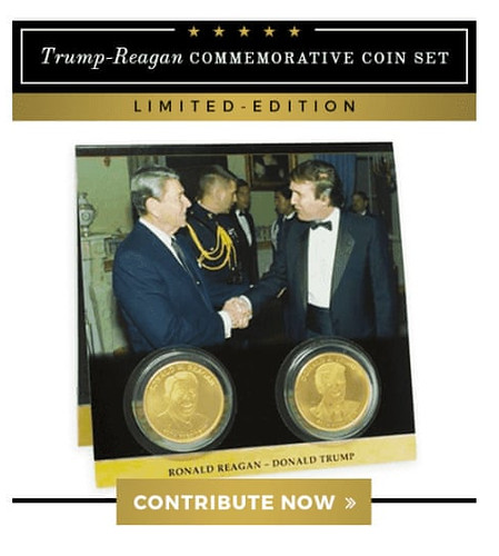 Trump-Reagan commemorative coin set