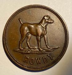 1915 Alaska Dog Token ROWDY Obverse