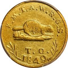 1849 Oregon Exchange Company $5 obverse