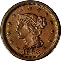 1853 Braided Hair Cent obverse