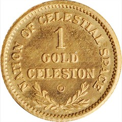 1959 Nation of Celestial Space 1 Gold Celeston reverse