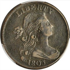 1803 Draped Bust Cent obverse
