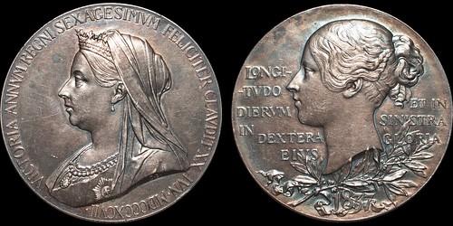 1897 Victoria Diamond Jubilee Silver Medal