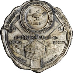 1920 Chicago ANA Convention Medal obverse