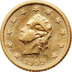 1959 Nation of Celestial Space 1 Gold Celeston obverse