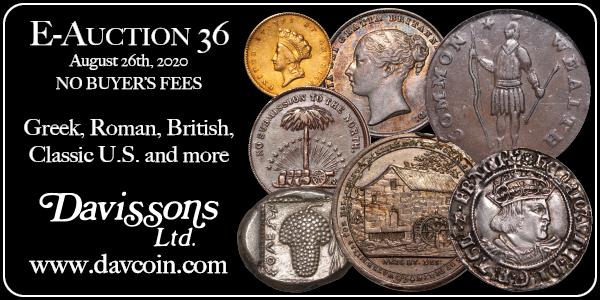 Davisson E-Sylum ad E-Auction-36 2020-08-02