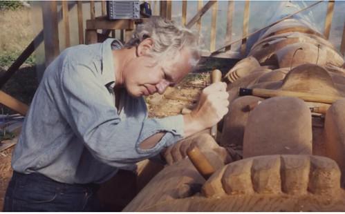 Bill Reid at work