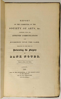 Report of the Committee on Preventing the Forgery of Bank Notes title page
