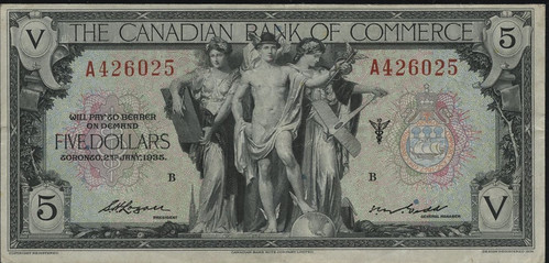 1935 Canadian Bank of Commerce $5