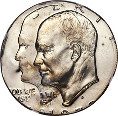 1973-S $1 Clad Eisenhower Dollar -- Double Struck on a Half Dollar Planchet -- PR66 Cameo NGC_Heritage_Auctions_1