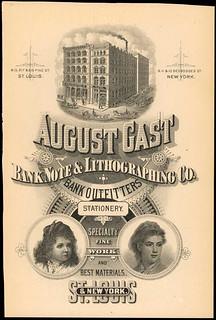 August Gast Banknote Engraving card