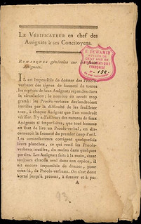 Report on Counterfeits of French Assignats
