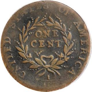Parmelee 1793 Strawberry Leaf Cent reverse