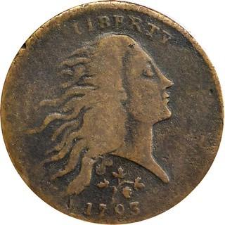 Parmelee 1793 Strawberry Leaf Cent obverse