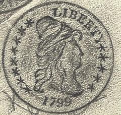 1799 eagle obverse rubbing