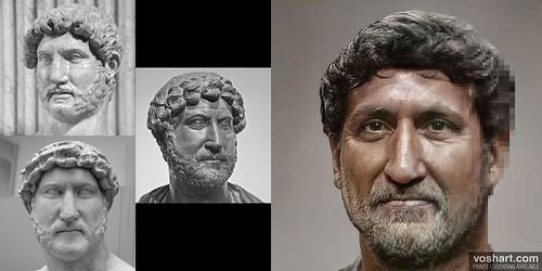 Composite portrait of hadrian