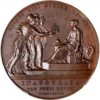1838 Victoria Coronation Bronze Medal reverse