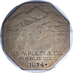 Lesher Dollar D. W. Klein obverse
