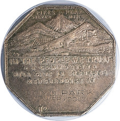 Lesher Dollar Boyd Park Without Number obverse