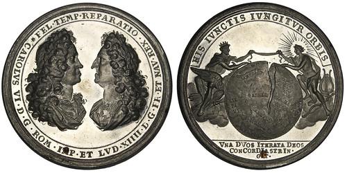 1714 Holy Roman Empire Treaty Medal