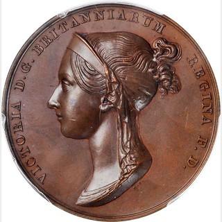 1838 Victoria Coronation Bronze Medal obverse