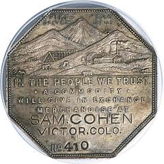 Lesher Dollar Sam Cohen obverse