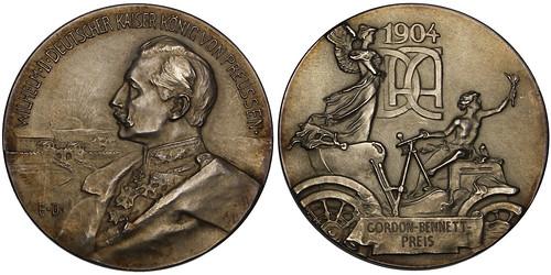 Gordon Bennett Cup Silver Award Medal