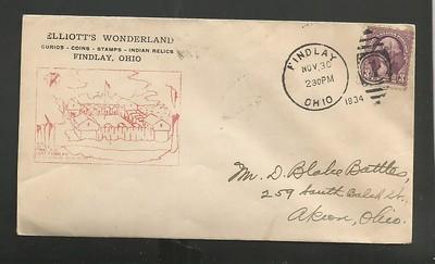 ELLIOTTS WONDERLAND postcard