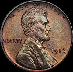 1916 matte proof cent obverse