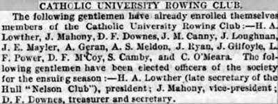 Catholic University rowing club article2
