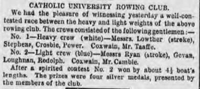 Catholic University rowing club article1