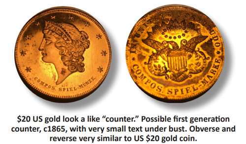 US Gold Double Eagle counter