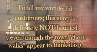 This shop is definitely not haunted